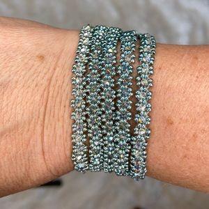 HANDMADE Five Strand Swarovski Crystal Bracelet